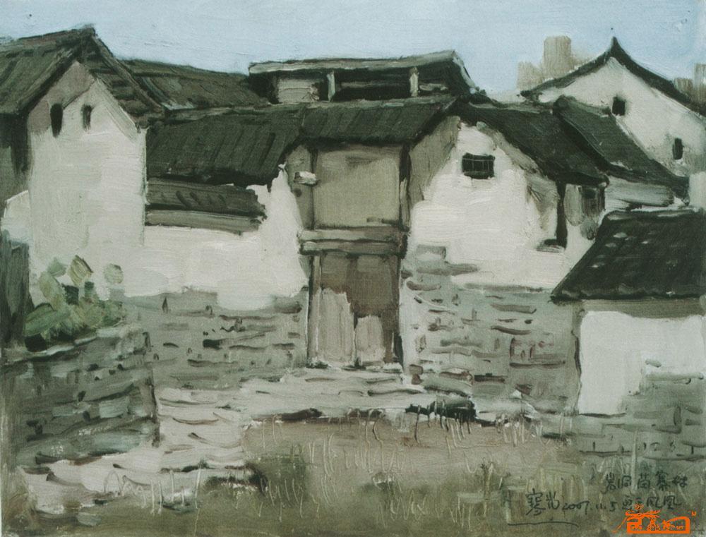 淘宝复古建筑风景图
